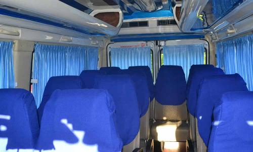 traveller interior blue seating